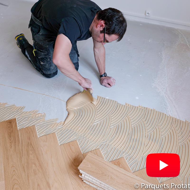 Comment poser un parquet contrecollé bâtons rompus, la réponse en images
