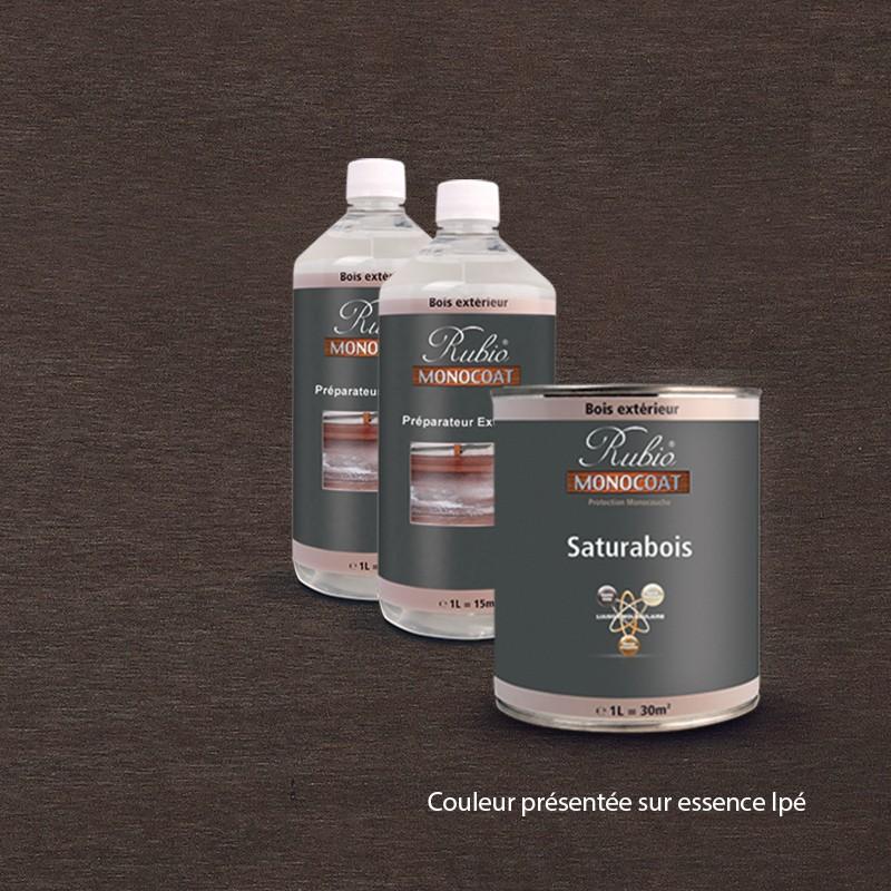 kit saturabois pour terrasses ip couleur noir. Black Bedroom Furniture Sets. Home Design Ideas
