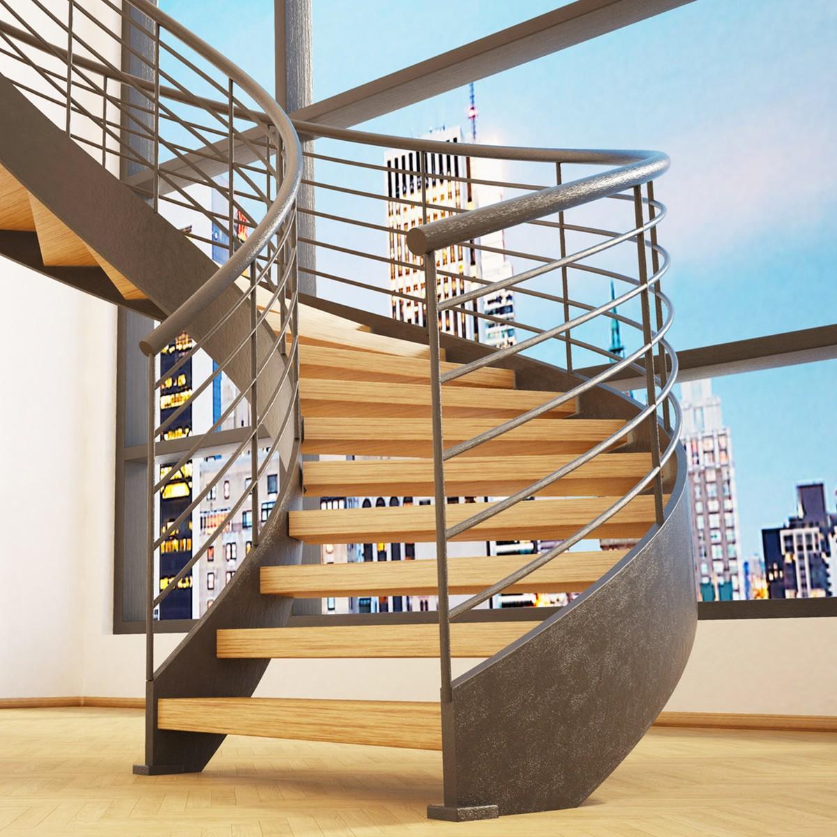 Ajouter Des Contre Marche Escalier panneau chêne massif sur-mesure