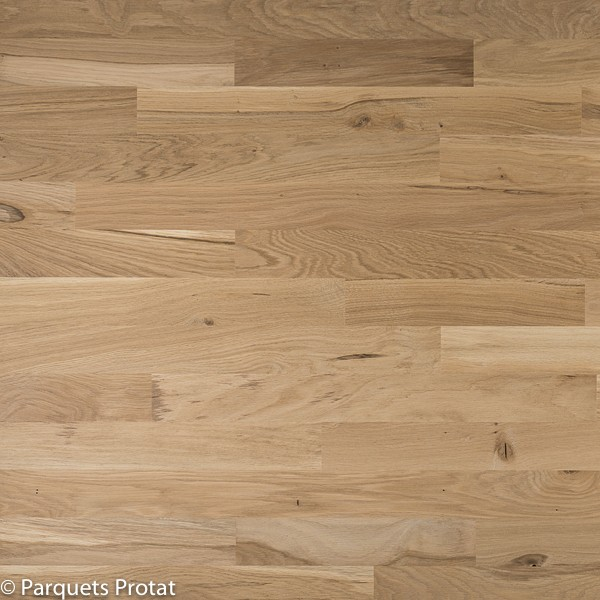 Parquet chene massif 23 mm deco largeur 70 mm protat for Parquet massif a clouer
