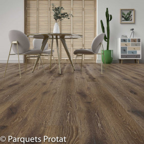 PARQUET CONTRECOLLÉ CHENE 14x182x2200mm INTEMPOREL RABOTE MAIN CLAIR DE LUNE