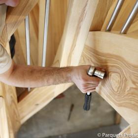 Panneau frêne olivier massif pour plans de travail et panneaux de meubles