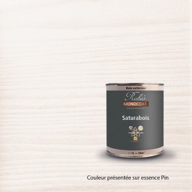 SATURABOIS TENDANCE COULEUR EN 1 LITRE FLEUR DE COTON