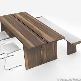 Panneau Noyer étuvé massif pour plans de travail et panneaux de meubles