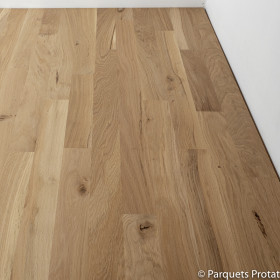 PARQUET CHENE MASSIF 22 x 90 mm SANS CHANFREIN CHALET