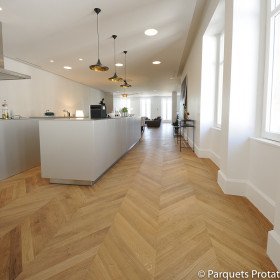 PARQUET CHENE MASSIF 14 mm AUTHENTIQUE POINT DE HONGRIE LARGEUR 80 mm