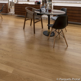 PARQUET CHENE MASSIF 14 x 130 mm COTTAGE PONCE VITRIFIE NATUREL SATINE
