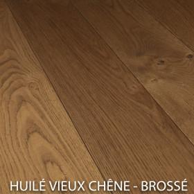 PARQUET CHENE MASSIF EPAISSEUR 14 mm BROSSÉ HUILÉ