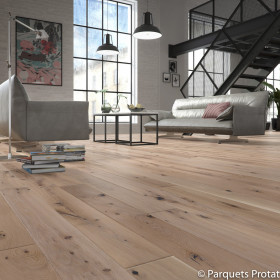 PARQUET CONTRECOLLE CHENE 14x182x2200mm INTEMPOREL RABOTE MAIN NATURE