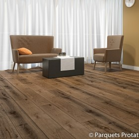 PARQUET FLOTTANT CHENE 14x182x2200mm INTEMPOREL RABOTE MAIN CAFE