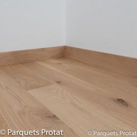 PLINTHE CHENE MASSIF 13 x 100 mm NATURE BORD DROIT