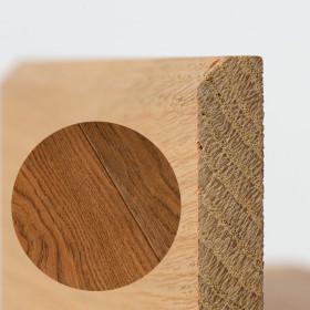 PLINTHE CHENE MASSIF 13 x 40 mm NATURE BORD CHANFREINÉ HUILÉ ANTIQUE