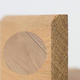 PLINTHE CHENE MASSIF 13 x 60 mm NATURE BORD CHANFREINÉ HUILÉ BLANC INTENSE