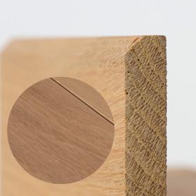 PLINTHE CHENE MASSIF 13 x 40 mm NATURE BORD CHANFREINÉ HUILÉ BLANC LÉGER