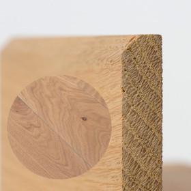 PLINTHE CHENE MASSIF 13 x 40 mm NATURE BORD CHANFREINÉ HUILÉ GRIS BLANC