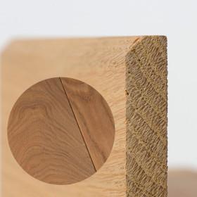 PLINTHE CHENE MASSIF 13 x 40 mm NATURE BORD CHANFREINÉ HUILÉ GRIS MÉTAL