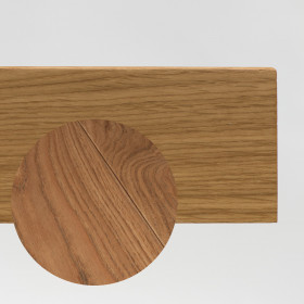 PLINTHE CHENE MASSIF 13 x 40 mm NATURE BORD DROIT GRIS METAL