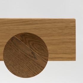 PLINTHE CHENE MASSIF 13 x 40 mm NATURE BORD DROIT NOIR