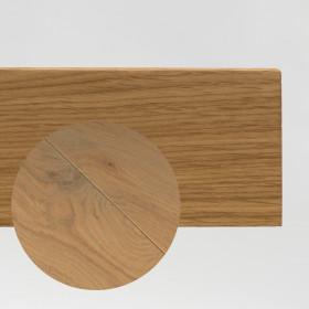PLINTHE CHENE MASSIF 13 x 40 mm NATURE BORD DROIT PERLE