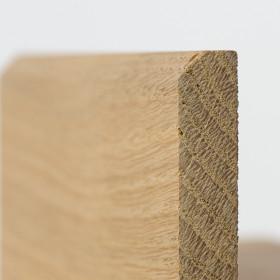 PLINTHE CHENE MASSIF 13 x 60 mm 1er BIS BORD CHANFREINE