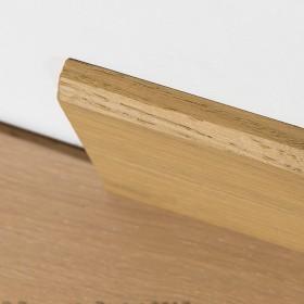 PLINTHE CHENE MASSIF 13 x 100 mm 1er BIS BORD CHANFREINE