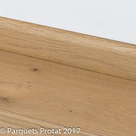 PLINTHE CHENE MASSIF 13 x 100 mm 1er BIS BORD ARRONDI
