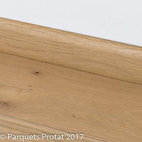 PLINTHE CHENE MASSIF 13 x 70 mm 1er BIS BORD ARRONDI