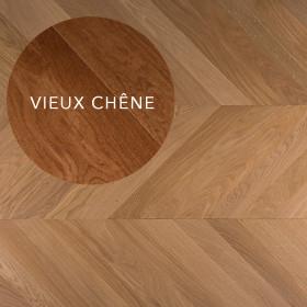 PARQUET CONTRECOLLE 11x120mm POINT DE HONGRIE AUTHENTIQUE, HUILE VIEUX CHENE