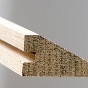 SEUIL EN BIAIS CHENE BRUT Ep 16 mm - Lg 2,00 ml