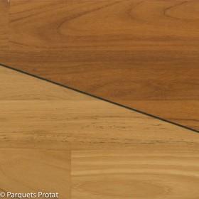 PARQUET TECK  MASSIF 14 x 90 mm REVERSIBLE BRUT GO0
