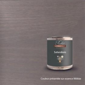 SATURABOIS TENDANCE COULEUR EN 1 LITRE GRIS VIEUX BOIS