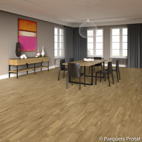 PARQUET FLOTTANT CHENE 3 FRISES 14x182x2190mm COTTAGE parement 3,5 mm
