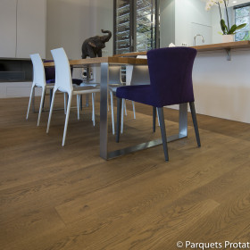PARQUET CHENE MASSIF 14 x 90 mm SANS CHANFREIN AUTHENTIQUE