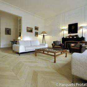 PARQUET CHENE MASSIF 23 mm PRESTIGE POINT DE HONGRIE LARGEUR 50 mm