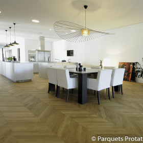 PARQUET CHENE MASSIF 23 mm AUTHENTIQUE POINT DE HONGRIE LARGEUR 80 mm