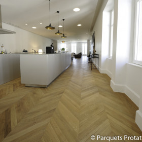 PARQUET CHENE MASSIF 23 mm AUTHENTIQUE POINT DE HONGRIE LARGEUR 140 mm