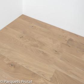 PARQUET CHENE MASSIF ÉPAISSEUR 20 mm, HUILÉ GRIS BLANC