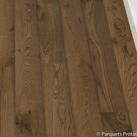 PARQUET CHENE MASSIF 20 x 150 mm CHOIX COTTAGE, HUILÉ CASTLE BROWN
