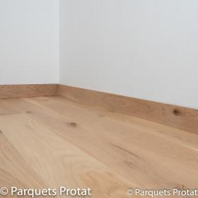 PLINTHE CHENE MASSIF 13 x 100 mm DECO BORD DROIT
