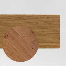 PLINTHE CHENE MASSIF 13 x 40 mm NATURE BORD DROIT NATUREL