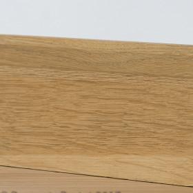 PLINTHE CHENE MASSIF 13 x 40 mm NATURE BORD CHANFREINE