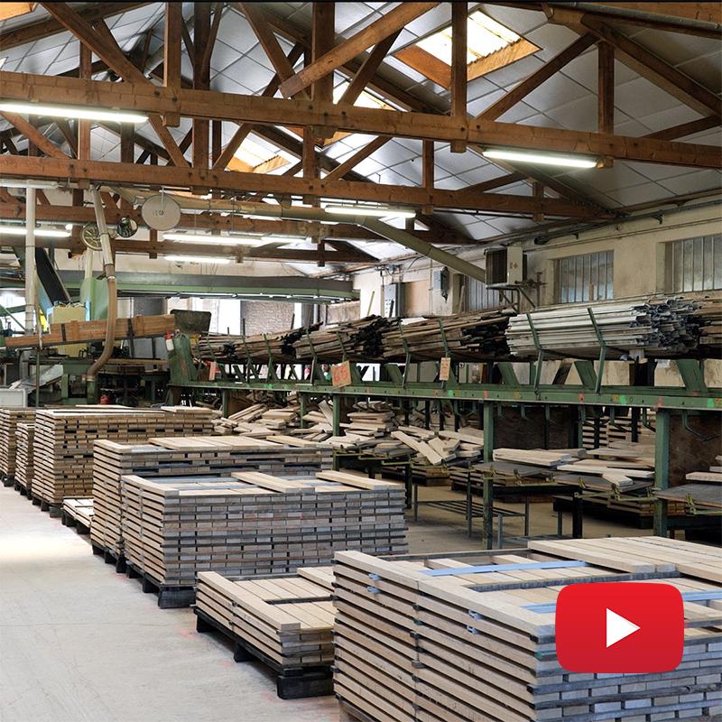 Fabrication d'un parquet en chêne massif