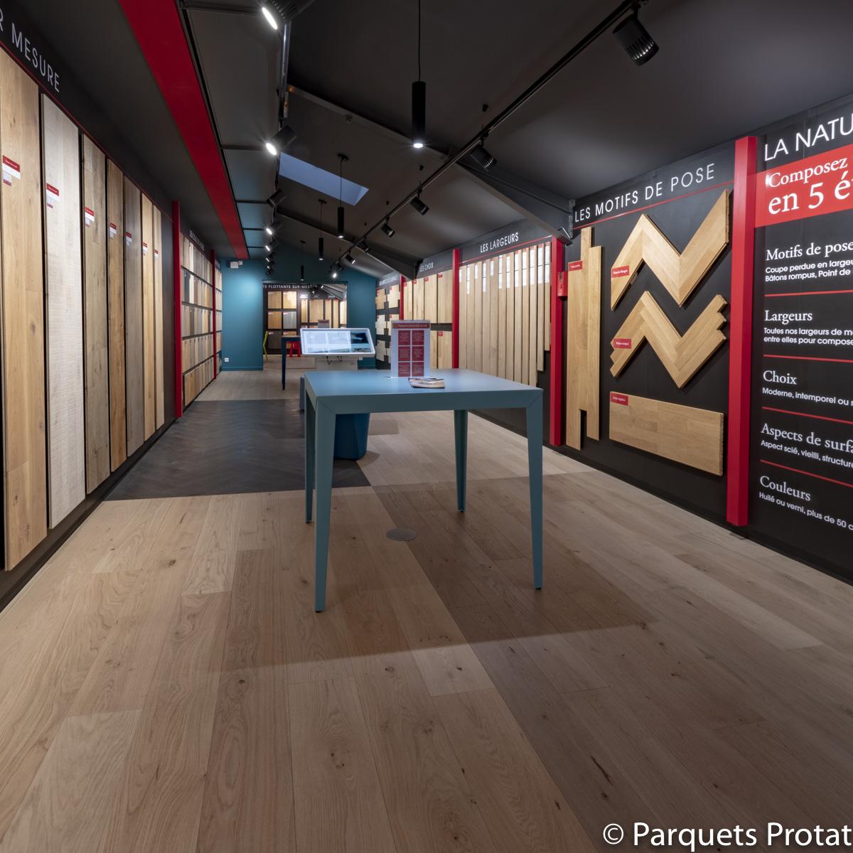 Showroom Parquets Protat, présent depuis 1954 à Lyon
